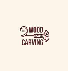 carving logo vector image