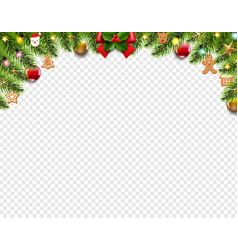 christmas border isolated transparent background vector image