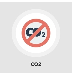 CO2 flat icon vector
