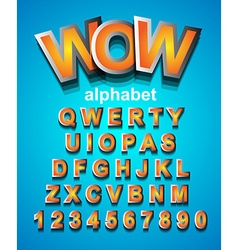colorful alphabet font to use for children vector image