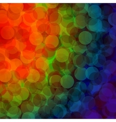 Colorful bokeh abstract light background vector image