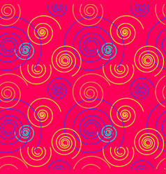 Dancing swirl seamless pattern vector