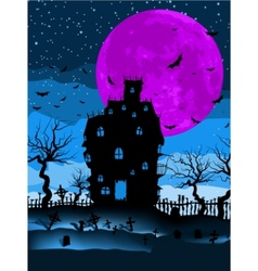 dark scary halloween vector image