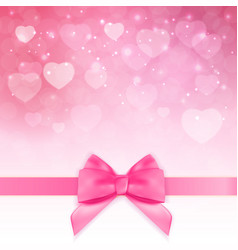 decorative pink bow background vector image