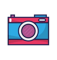 digital camera technology to focus equipment vector image
