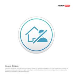 Do not enter icon - white circle button vector