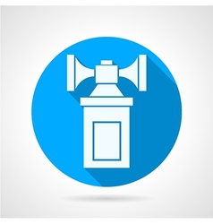 Double air horn flat icon vector