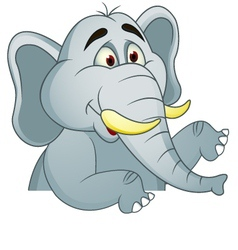 elephants cartoon with blank sign vector image