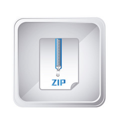 Emblem laptop zip document icon vector
