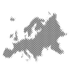 Europe map population demographics vector