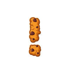 exclamation mark letter cookies cookie font vector image