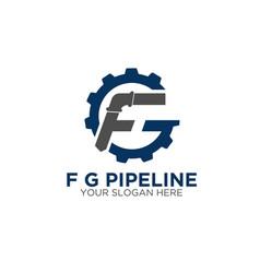 f g service construction logo designs vector image