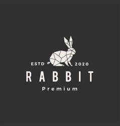 Geometric rabbit hare bunny hipster vintage logo vector