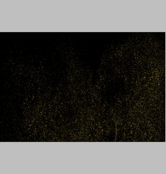 Gold glitter texture isolated on black amber part vector