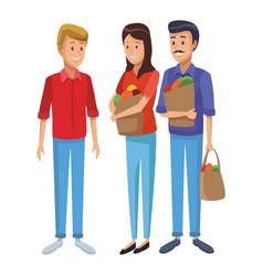 Grocery business cartoon vector