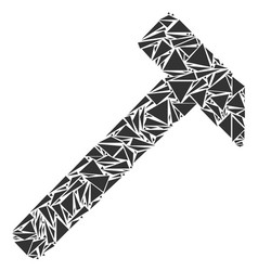 Hammer mosaic of triangles vector