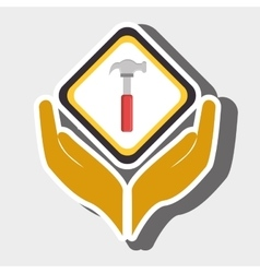 hands tools construction symbol vector image