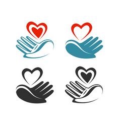 health donation charity logo or label hand vector image