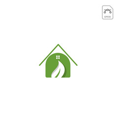 home nature logo design inspiration icon element vector image