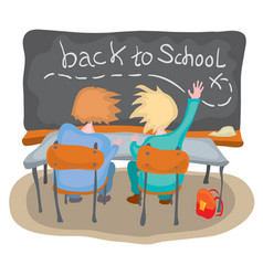 how to go back to school vector image
