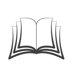 icon symbol open book logo isolated vector image