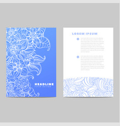 Invitation card with blue pattern vector