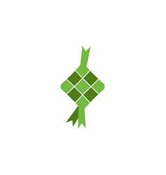 ketupat eid al fitr ramadan vector image