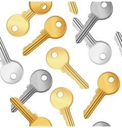 Key Falling Background Pattern vector image