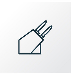 knife holder icon line symbol premium quality vector image