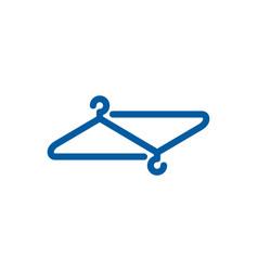 Link laundry logo icon design vector