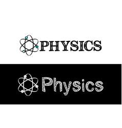 logo for physics school subject vector image