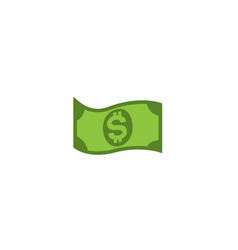 One dollar money currency symbol paper vector