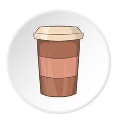 Paper cup for coffee icon cartoon style vector image