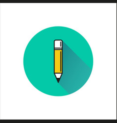pencil icon on white background vector image