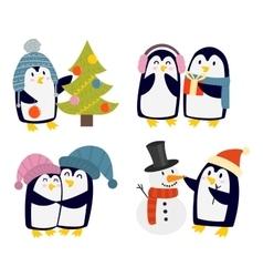Penguin set characters vector