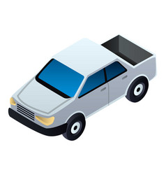 pickup car icon isometric style vector image