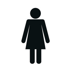 pictogram woman icon vector image