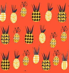 pineapples fantasy seamless pattern it is located vector image