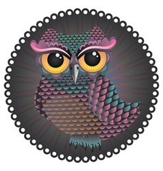 Pink and Blue Color Owl2 vector