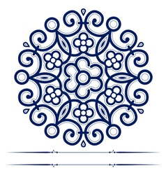 round lace ornate background vector image