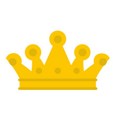 Royal crown icon isolated vector