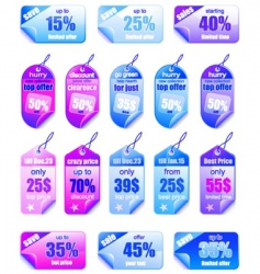 sale price tags vector image