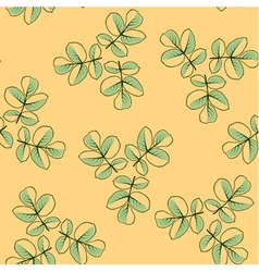Seamless pattern made from rose leaves vector image