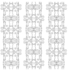 seamless pattern of elegant flourishes vector image