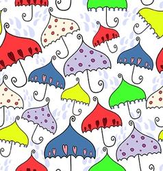 Seamless pattern of fantasy umbrellas vector