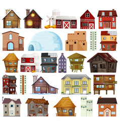 Set different house style vector