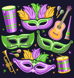 set for brazil carnival vector image
