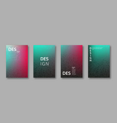 Set of abstract bright colors minimal cover design vector