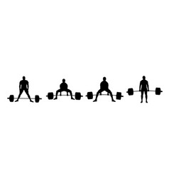 Set powerlifting athlete vector