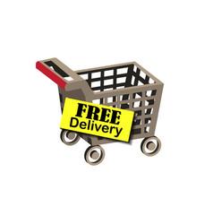 shopping supermarket cart vector image